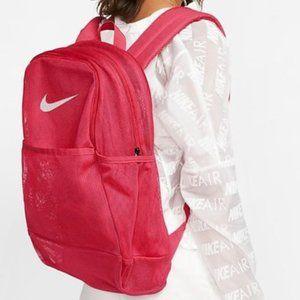NWT Nike Brasilia Pink Mesh Backpack NEW